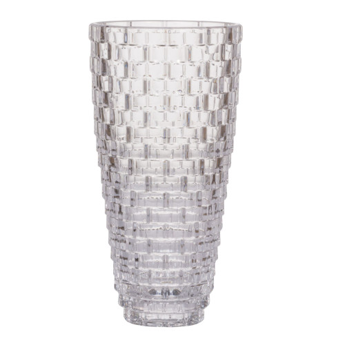 """11.5"""" Clear Vintage Glamour Style Glass Tall Flower Vase - IMAGE 1"""