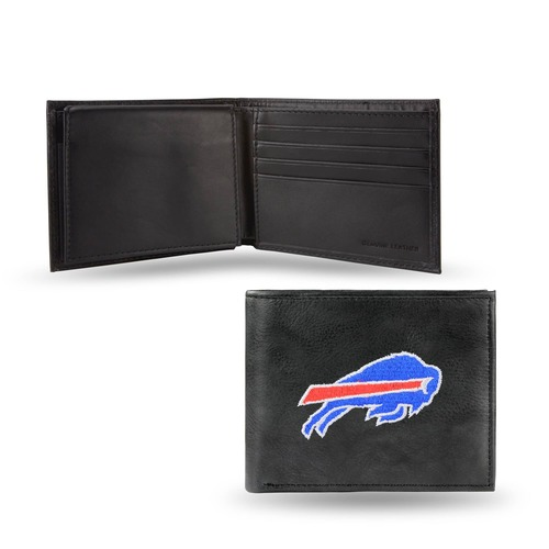 "4"" Blue and Black NFL Buffalo Bills Embroidered Billfold Wallet - IMAGE 1"