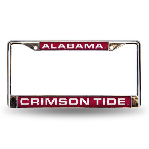 "6"" x 12"" Red and White College Alabama Crimson Tide License Plate Cover - IMAGE 1"