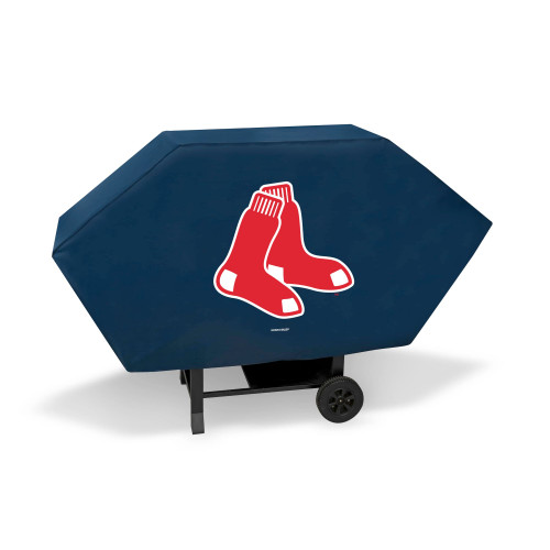 "68"" x 35"" Red and White MLB Boston Red Sox Executive Grill Cover - IMAGE 1"