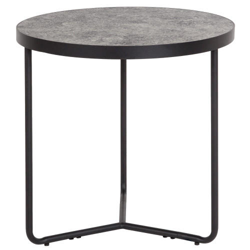 """19.5"""" Gray Contemporary Round 3-Leg Sled Base End Table - IMAGE 1"""