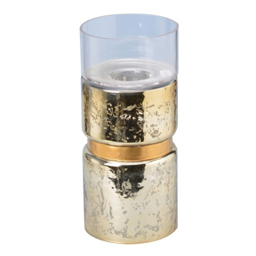 """13"""" Gold Vintage Glamour Halloway Small Candle Holder - IMAGE 1"""