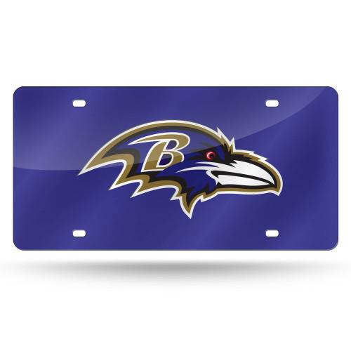 "12"" Violet and Brown NFL Baltimore Ravens Cut Tag - IMAGE 1"