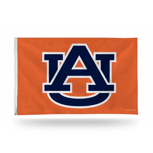 3' x 5' Orange and Blue College Auburn Tigers Rectangular Banner Flag - IMAGE 1