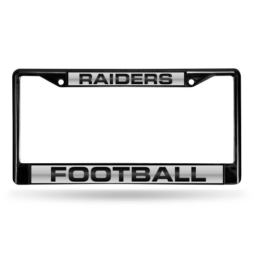"""6"""" x 12"""" Ivory and Black NFL Oakland Raiders License Plate Cover - IMAGE 1"""