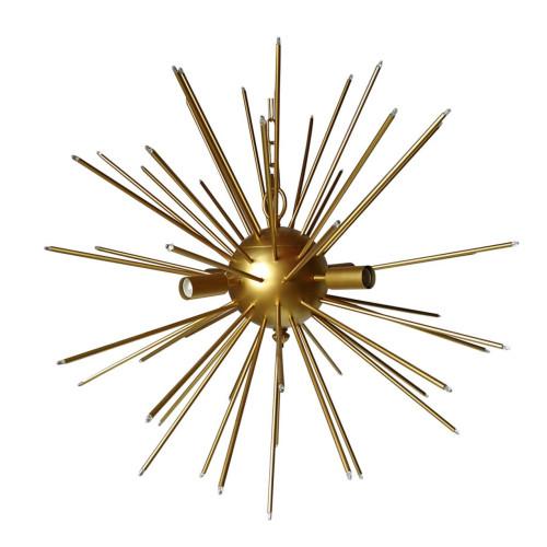 "26"" Gold Modern Chic Spherical Spokes Star Chandelier - IMAGE 1"