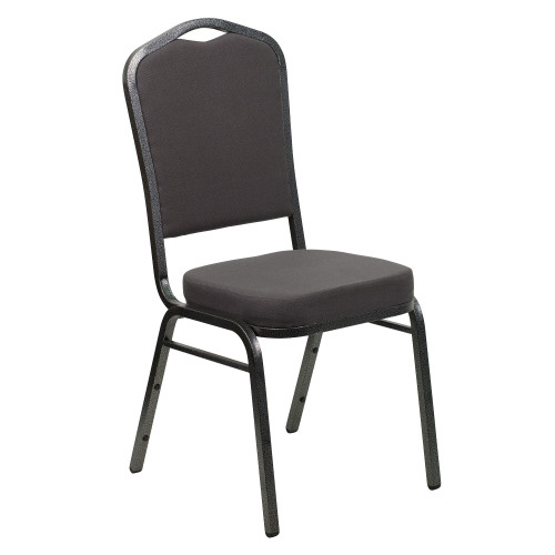 """38"""" Gray Contemporary Crown Back Stacking Banquet Chair - IMAGE 1"""