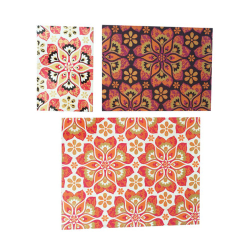 "Set of 3 Vibrantly Colored Kaleidoscopic Pattern Notebooks 10"" - IMAGE 1"
