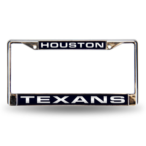 """6"""" x 12"""" Steel Blue and Silver Colored NFL Houston Texans License Plate Cover - IMAGE 1"""
