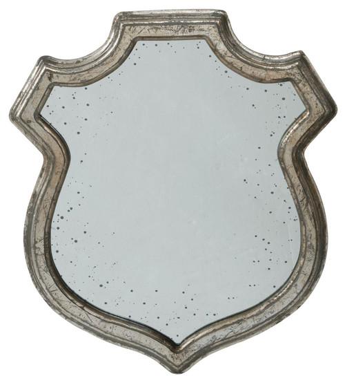 "23.5"" Silver Wide Unique Crest Framed Medium Wall Mirror - IMAGE 1"