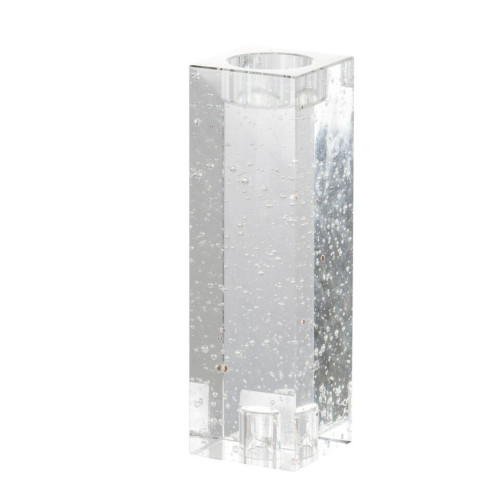 """7.75"""" Clear Modern Chic Style Candle Holder - IMAGE 1"""