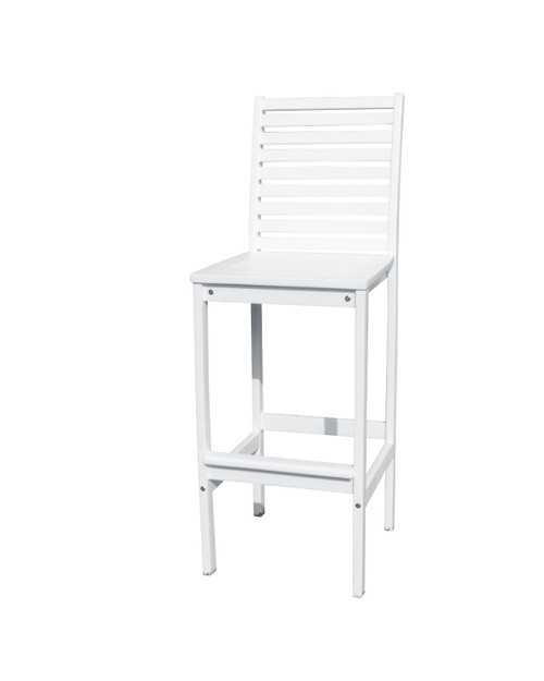 """49"""" White Painted Finish Outdoor Furniture Patio Bar Chair - IMAGE 1"""