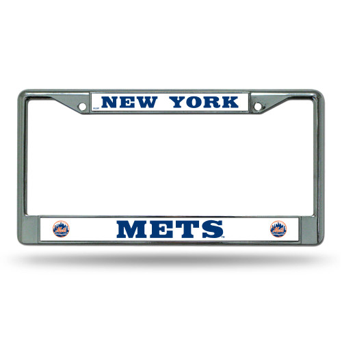 """6"""" x 12"""" White and Blue MLB New York Mets License Plate Cover - IMAGE 1"""