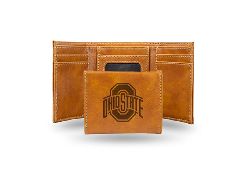 "4"" Brown College Ohio State Buckeyes Trifold Wallet - IMAGE 1"