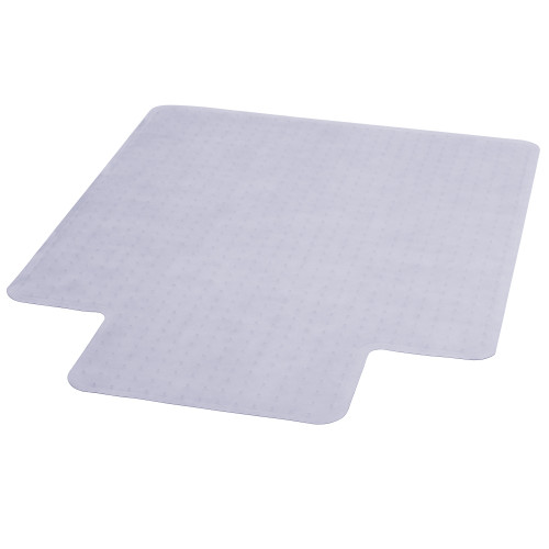 "47"" Clear Contemporary Carpet Chair Mat with Lip - IMAGE 1"
