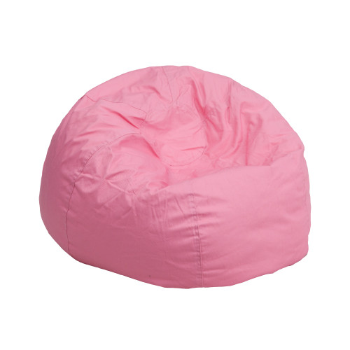 "30"" Light Pink Solid Contemporary Kids and Teens Bean Bag Chair - IMAGE 1"