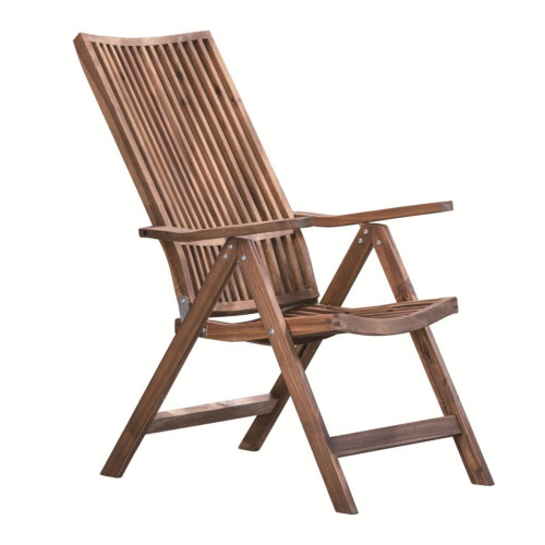 "44.5"" Brown Bayside Retreat Adjustable Lounge Chair - IMAGE 1"