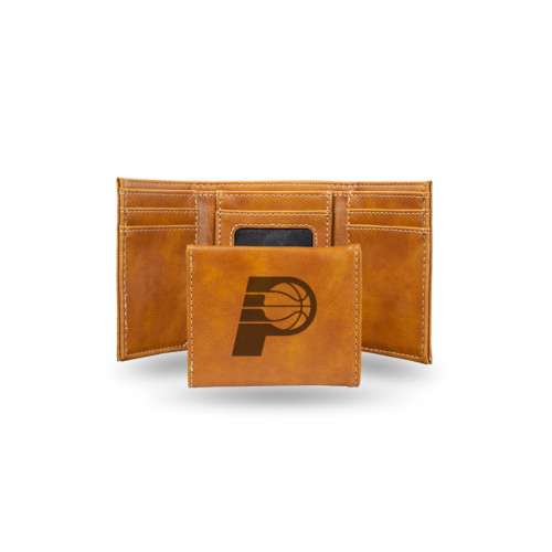 """4"""" Brown NBA Indiana Pacers Rectangular Trifold Wallet - IMAGE 1"""