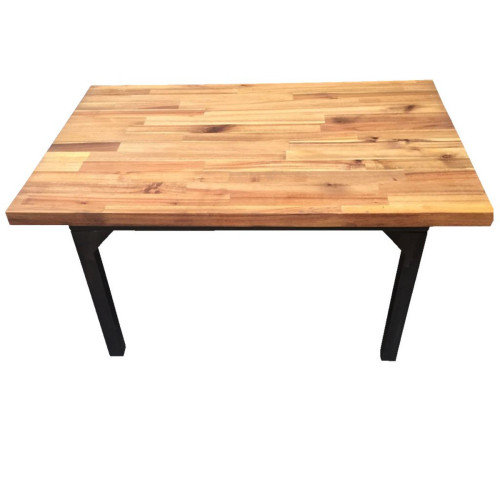 "40"" Brown and Black Modern Cocktail Table - IMAGE 1"