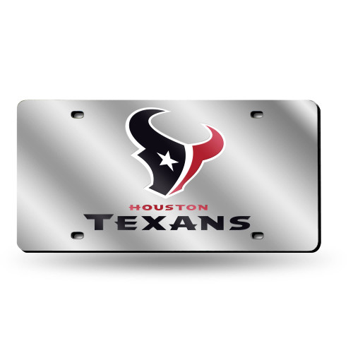 """6"""" x 12"""" Black and Silver Colored NFL Houston Texans Tag - IMAGE 1"""