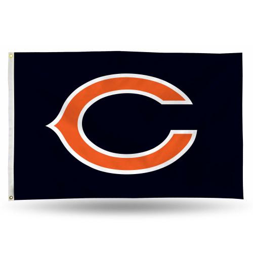 3' x 5' Orange and Black NFL Chicago Bears Rectangular Banner Flag - IMAGE 1