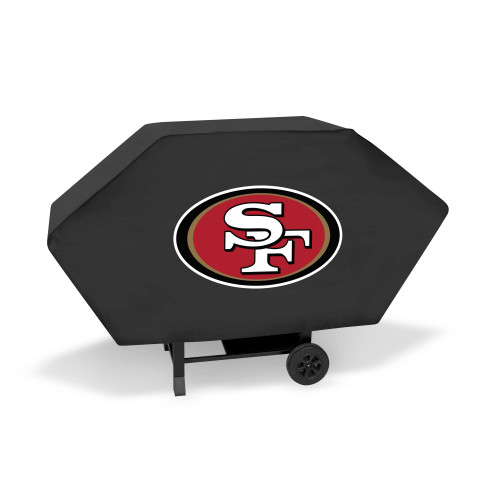 "68"" x 35"" Red and White NFL San Francisco 49ers Executive Grill Cover - IMAGE 1"