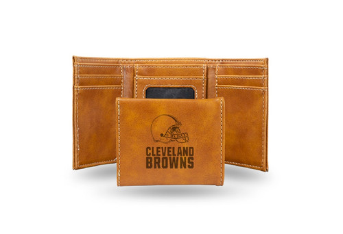 """4"""" Brown NFL Cleveland Browns Trifold Wallet - IMAGE 1"""