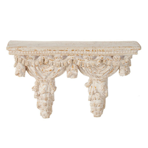 "20.25"" Cream White Antique Style Decorative Wall Shelf - IMAGE 1"