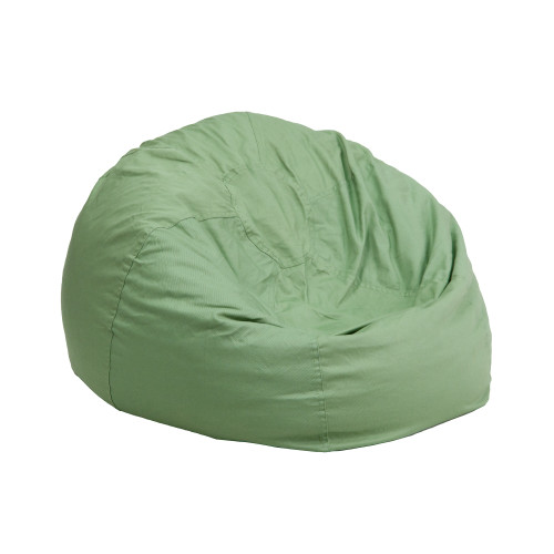 "30"" Green Contemporary Solid Kids Small Bean Bag Chair - IMAGE 1"