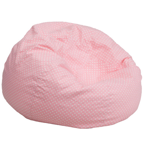 "42"" Light Pink contemporary Oversized Dot Bean Bag Chair - IMAGE 1"