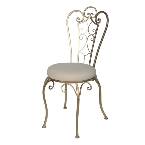 "38"" Gold and White Contemporary Folding Chair - IMAGE 1"