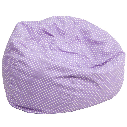 "42"" Lavender Contemporary Oversized Dot Bean Bag Chair - IMAGE 1"