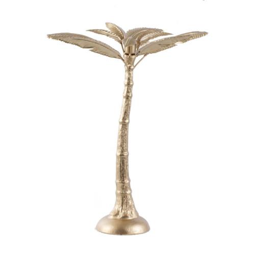 """15.75"""" Gold Palm Tree Shape Iron Candle Holder - IMAGE 1"""