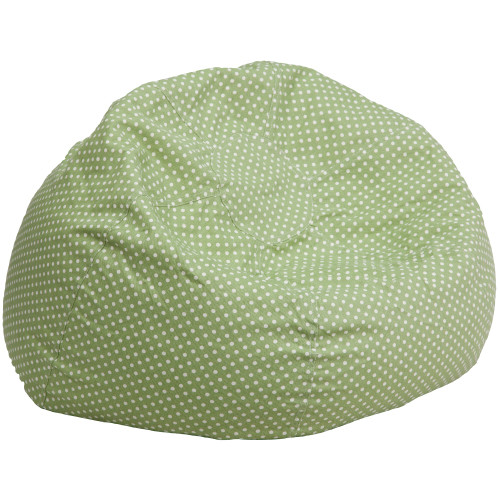 "42"" Green contemporary Oversized Dot Bean Bag Chair - IMAGE 1"