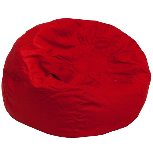 "42"" Red Contemporary Oversized Solid Bean Bag Chair - IMAGE 1"