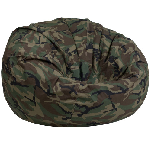 "42"" Gray and Black Oversized Camouflage Kids Bean Bag Chair - IMAGE 1"