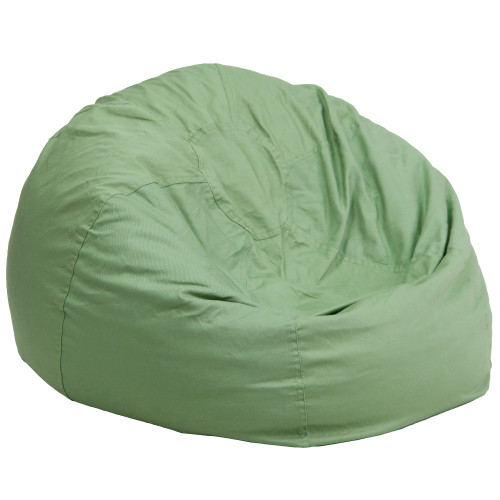"42"" Green Contemporary Oversized Solid Bean Bag Chair - IMAGE 1"
