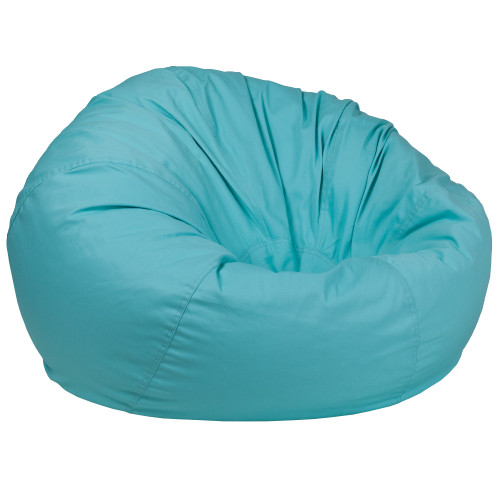 "42"" Mint Green Solid Contemporary Oversized Bean Bag Chair - IMAGE 1"
