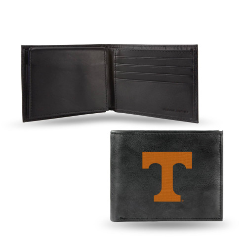 """4"""" Black and Orange College Tennessee Volunteers Embroidered Billfold Wallet - IMAGE 1"""