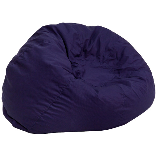 "42"" Navy Blue Contemporary Oversized Solid Bean Bag Chair - IMAGE 1"