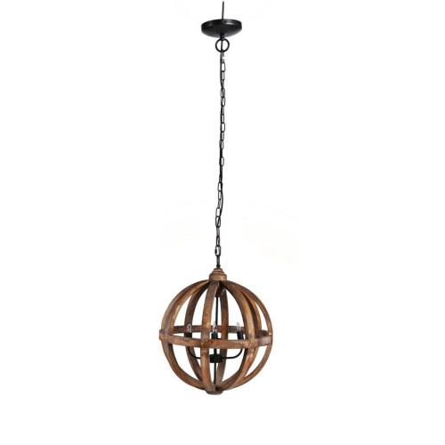 """29"""" Brown Four-Light Pratt Sphere Chandelier - IMAGE 1"""