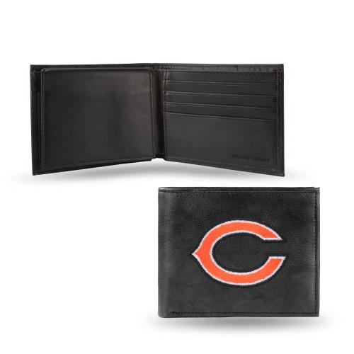 "4"" Black and Orange NFL Chicago Bears Embroidered Billfold Wallet - IMAGE 1"