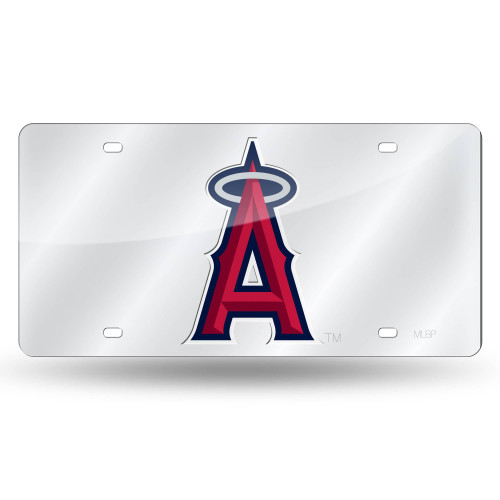 """6"""" x 12"""" Red and Silver Colored MLB Los Angeles Angels Tag - IMAGE 1"""