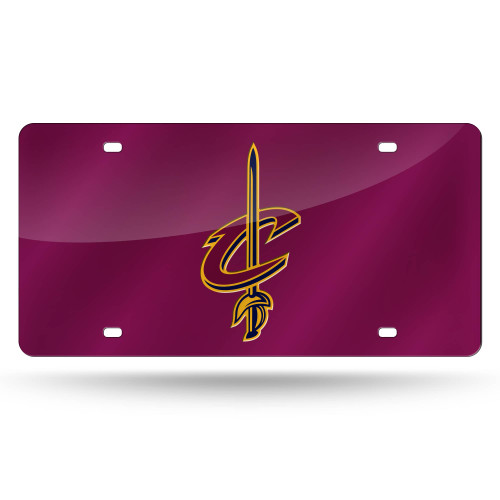 """6"""" x 12"""" Purple and Yellow NBA Cleveland Cavaliers Tag - IMAGE 1"""