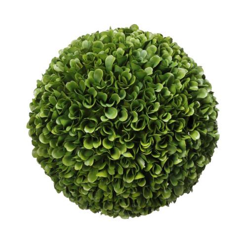 """8.5"""" Green Artificial Boxwood Topiary Garden Ball - IMAGE 1"""