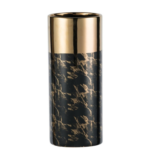 """15.5"""" Black and Gold Contemporary Style Tall Vase - IMAGE 1"""