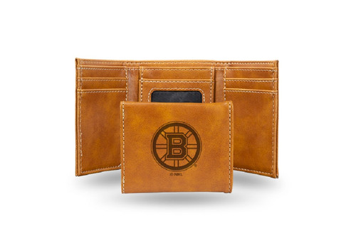 """4"""" Brown NHL Boston Bruins Trifold Wallet - IMAGE 1"""