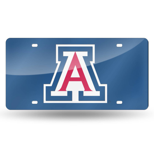 """6"""" x 12"""" White and Blue College Arizona Wildcats Tag - IMAGE 1"""