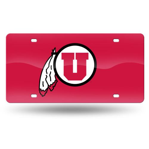 "6"" x 12"" Black and Red College Utah Utes Tag - IMAGE 1"