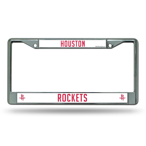 """6"""" x 12"""" Red and White NBA Houston Rockets Auto License Plate Cover - IMAGE 1"""